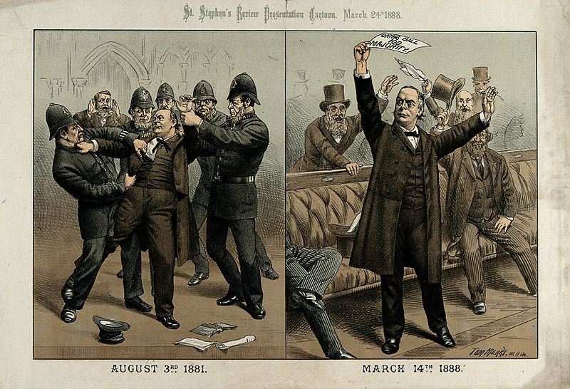 Charles_Bradlaugh_being_arrested_and_then_in_parliament_Wellcome_V0050355